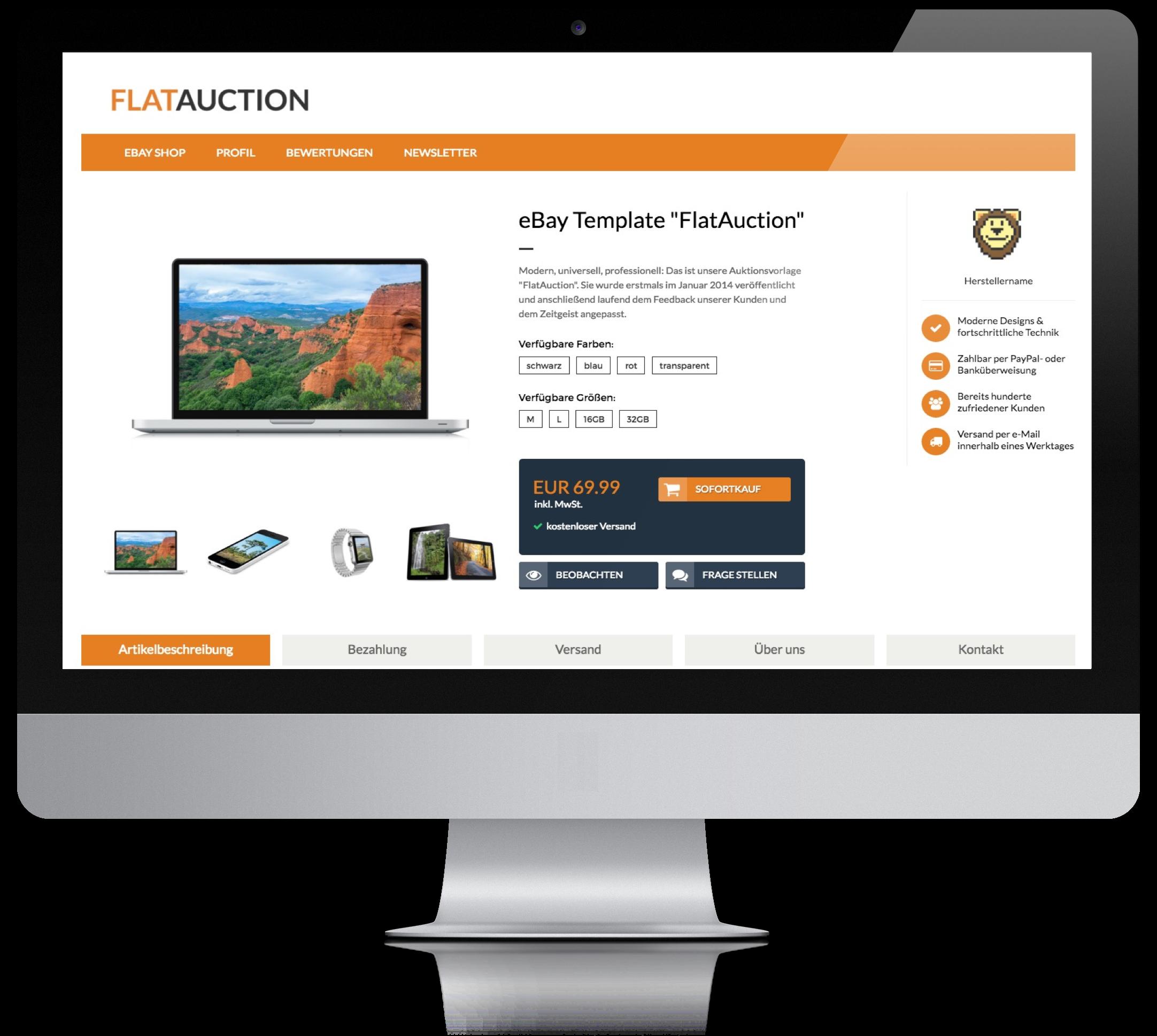 Pixelsafari Auktionsvorlagen | eBay Stores