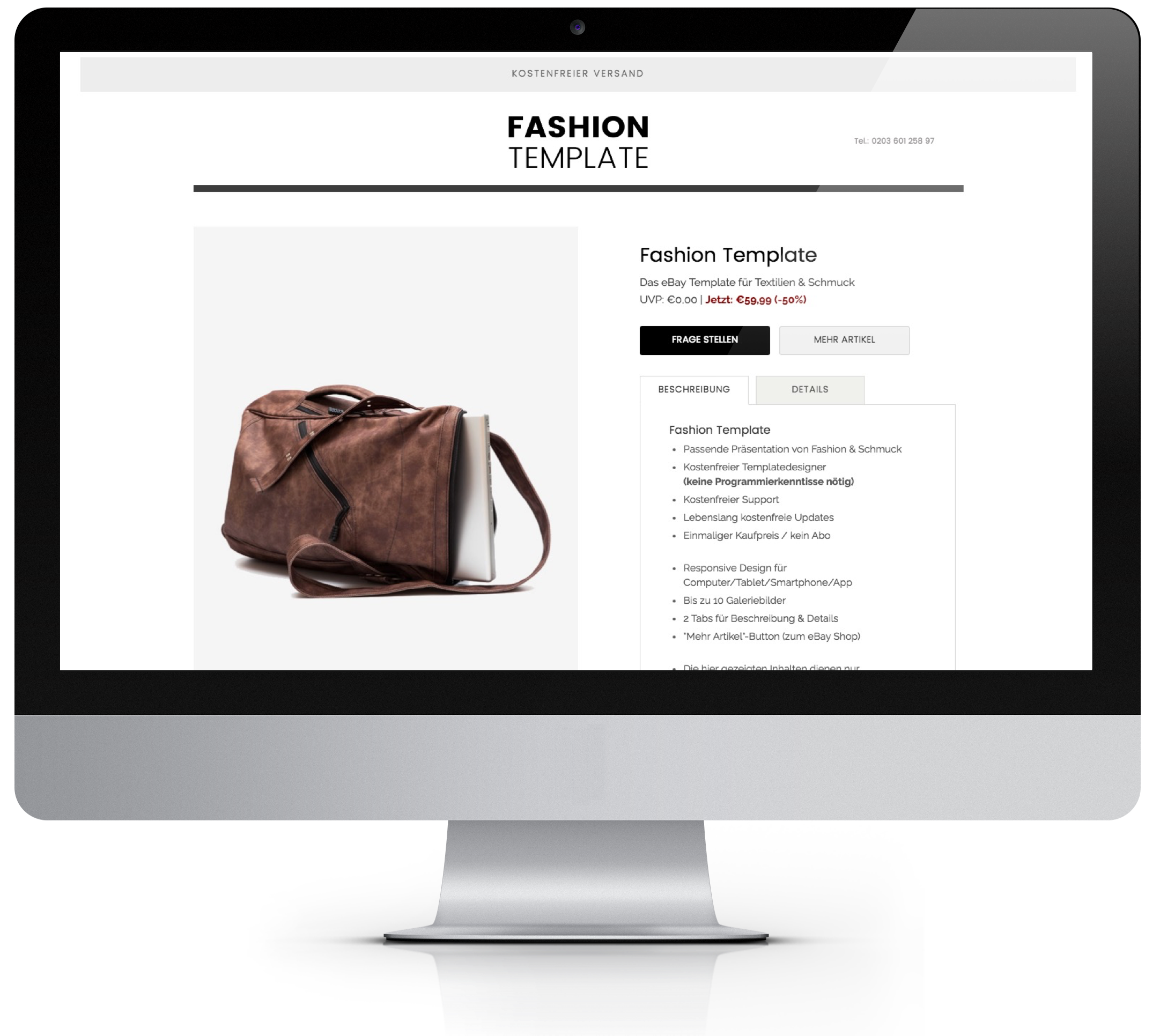 Fashion Template Angebotsvorlage - Pixelsafari e-Commerce Solutions
