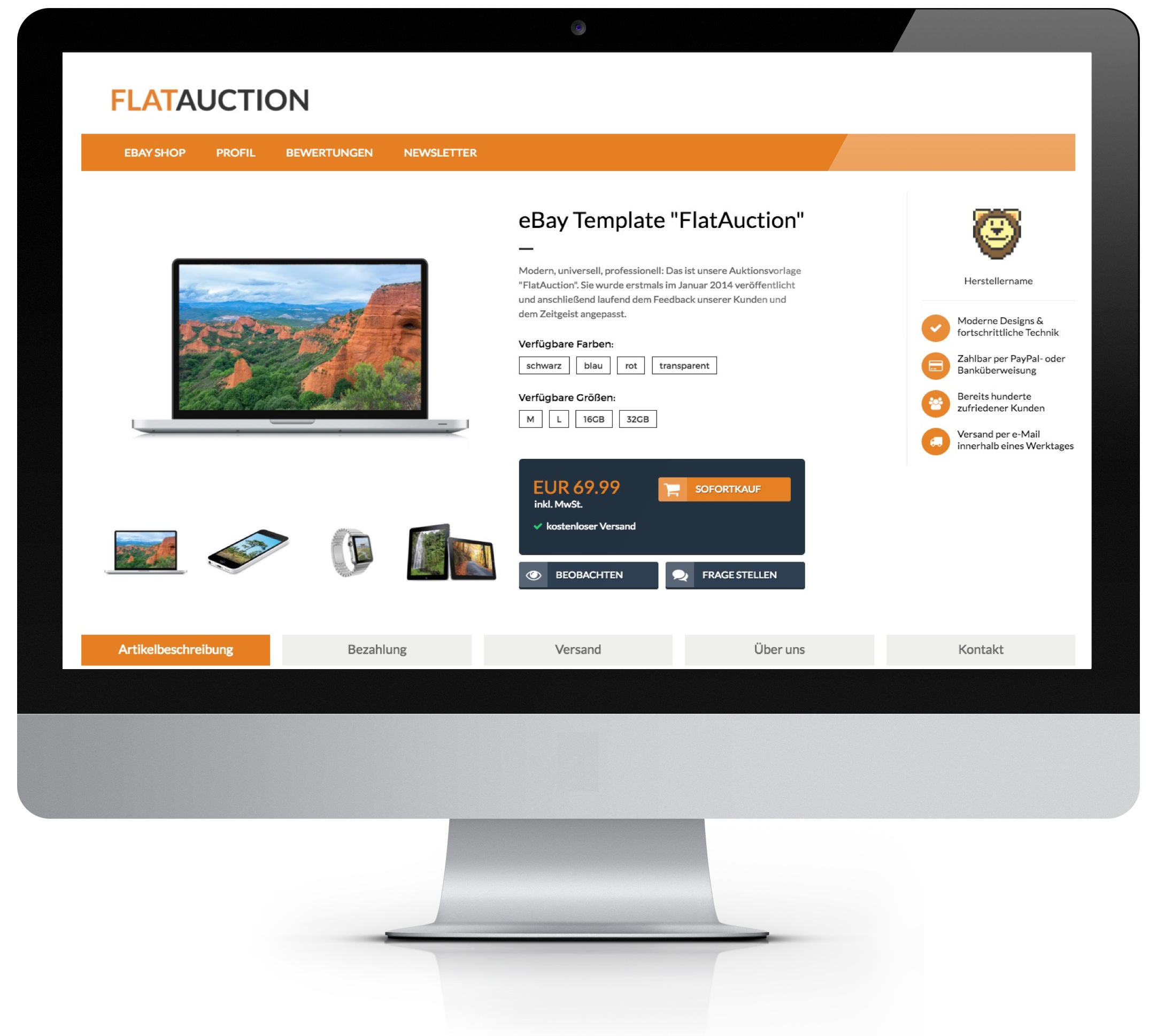 FlatAuction Angebotsvorlage - Pixelsafari e-Commerce Solutions