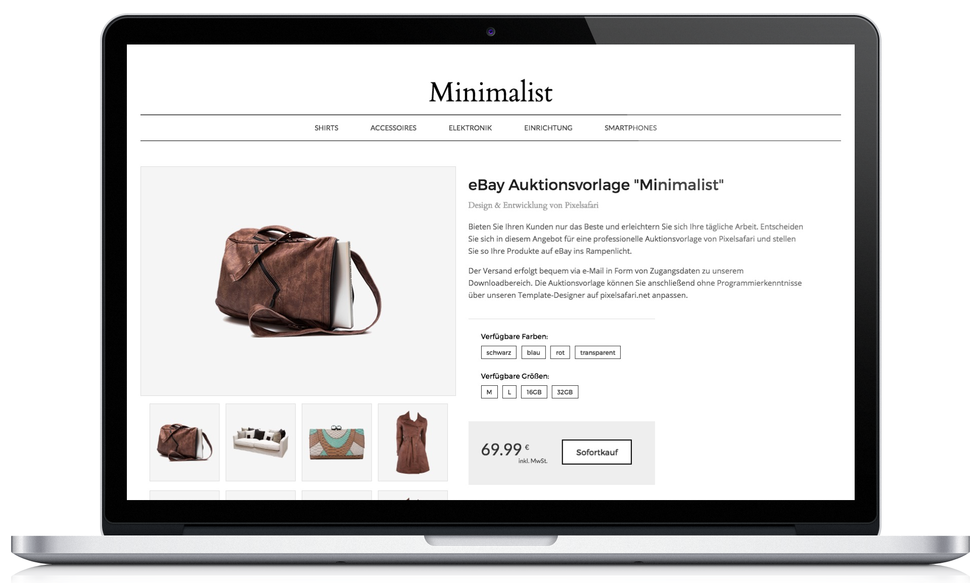 Minimalist Angebotsvorlage - Pixelsafari e-Commerce Solutions