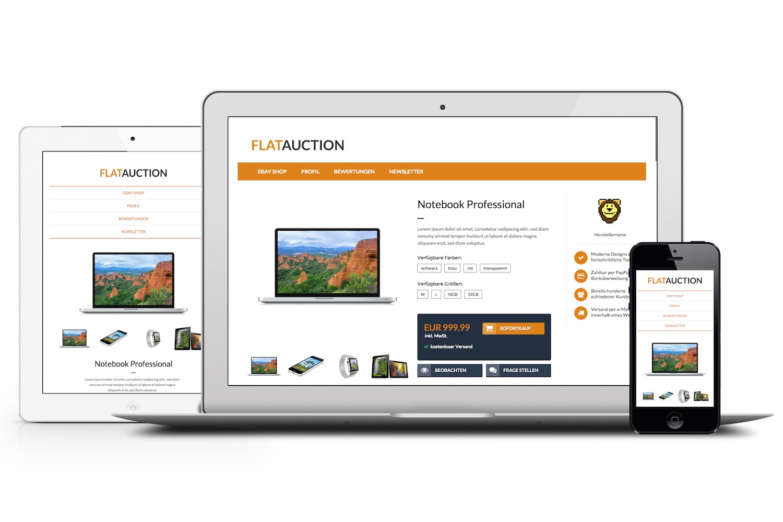 Das meistverkaufte eBay Template auf eBay: Flatauction - Auktionsvorlage by Pixelsafari.