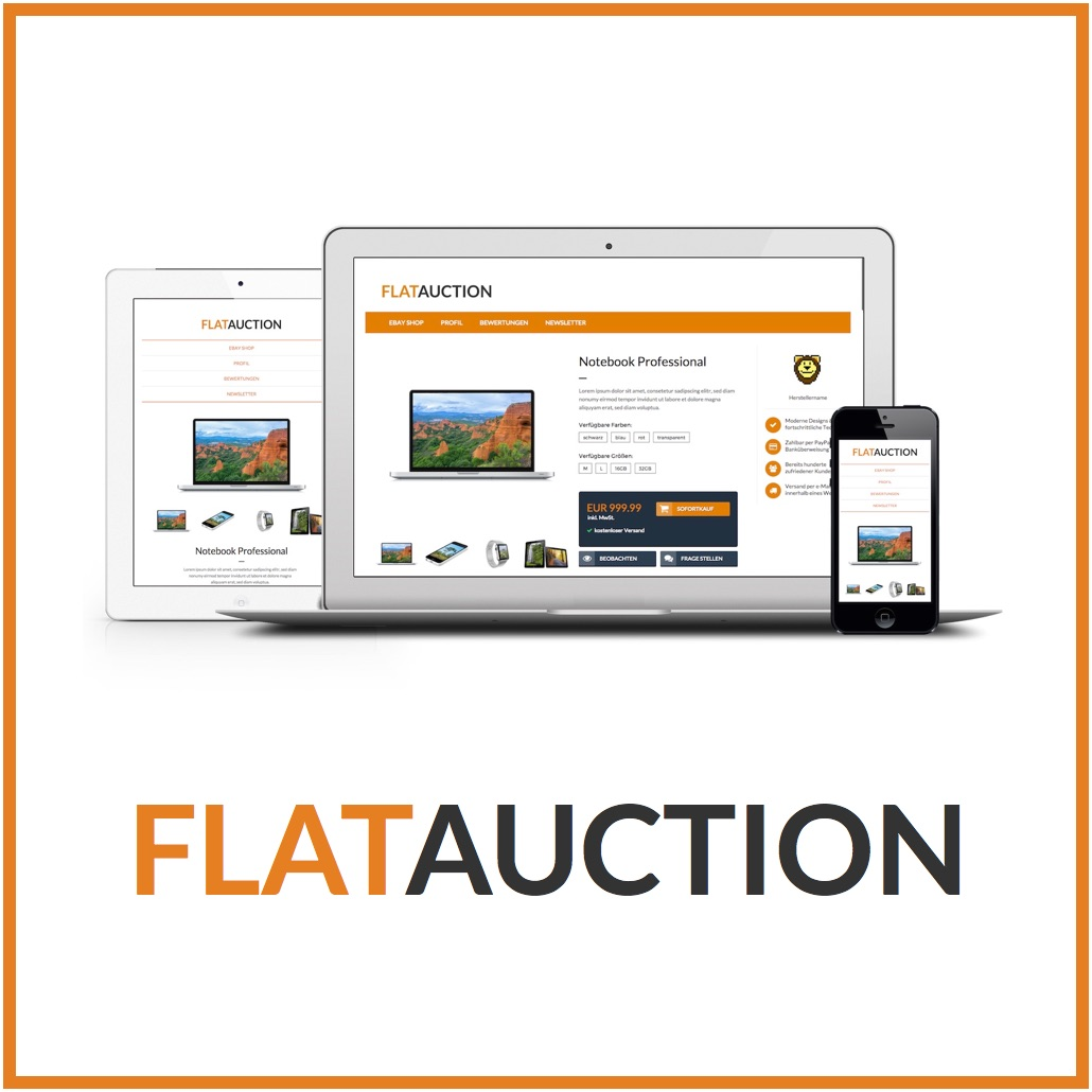 FlatAuction EBay Listing Template Pixelsafari ECommerce Solutions - Ebay listing templates